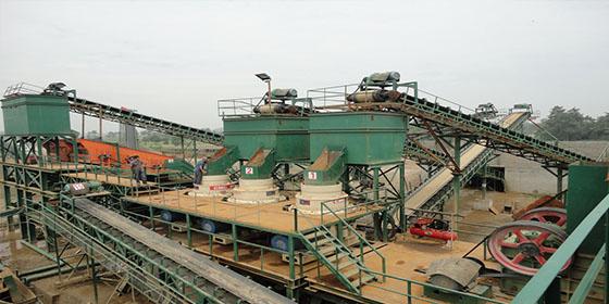 450吨/小时鹅卵石制砂生产线